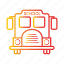 autobus, bus, school bus, transport, transportation, vehicle icon