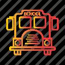autobus, bus, school bus, transport, transportation, vehicle icon
