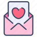 envelope, heart, letter, love, mail, message, valentine icon