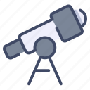 astronomy, observation, science, telescope, space icon