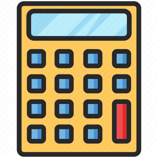 back to school, calculator, education, study icon