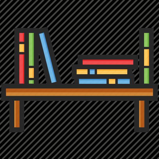 back to school, books, bookshelf, study icon
