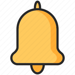 back to school, bell, education, study icon