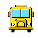 bus, delivery, school, school bus, transport, transportation, travel icon