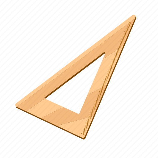 education, learning, ruler, school, triangle icon