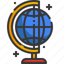 globe, education, earth, grid, subject, geography, planet