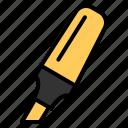 education, highlighter, line, marker, pen, school, write icon