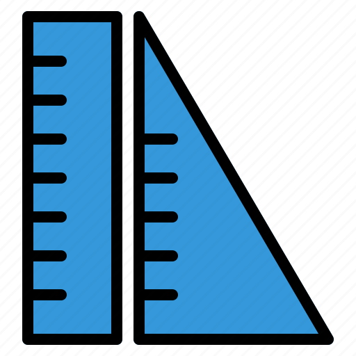 Education, geometry, learning, measure, ruler, school, study icon - Download on Iconfinder