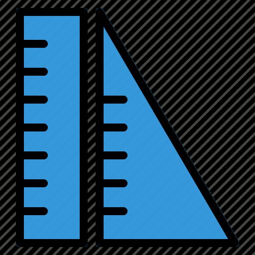 education, geometry, learning, measure, ruler, school, study icon