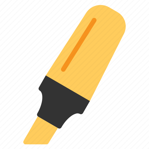 Education, highlighter, line, marker, outline, pen, study icon - Download on Iconfinder