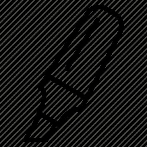 Education, highlighter, line, marker, outline, pen, write icon - Download on Iconfinder