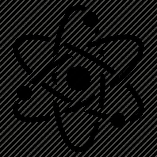 atom, chemistry, laboratory, physics, research, school, science icon