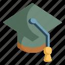 cap, education, graduate, graduation, knowledge, mortarboard