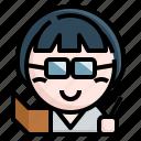 avatar, educator, occupation, profession, teacher icon