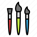 brush, paintbrush, school, school supply, stationary
