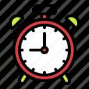 alarm clock, clock, notification, school, time icon