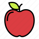 apple, food, fresh, fruit, knowledge, school icon