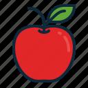 apple, back to school, education, fresh, fruit, student, study icon