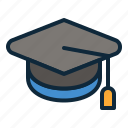 back to school, education, graduate cap, graduation, hat, student, study