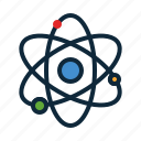 atom, back to school, education, laboratory, science, student, study icon