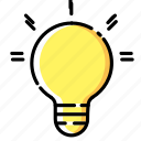 bulb, creative, creativity, idea, lamp, light, think icon