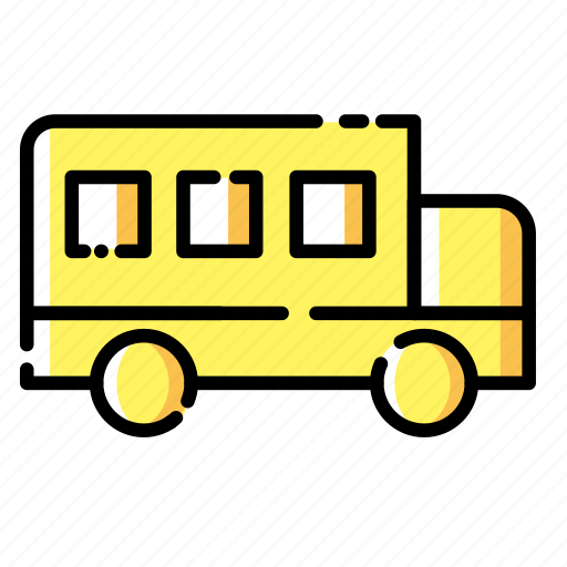 bus, education, learning, school, science, study, transport icon