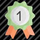 badge, award, medal, ribbon, winner, prize, achievement
