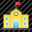 architecture, building, college, school, study icon