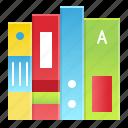 book, file, folder, notebook, school icon