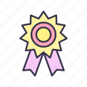 achievement, awards, badge, medal, quality, reward, won icon
