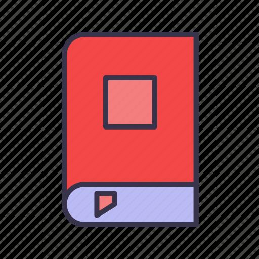 book, bookmark, education, graduated, graduation, reading, study icon