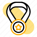 award, back to school, education, gold, medal, student, study icon