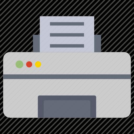 copy, facsimile, fax, machine, printer icon
