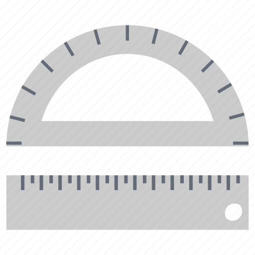 Degree, geometry, measuring, protractor, ruler, tool icon - Download on Iconfinder
