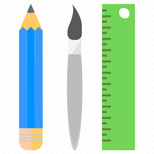 geometry, measuring, pencil, ruler, scale, tools icon