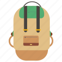 backpack, bag, book, school, supplies icon