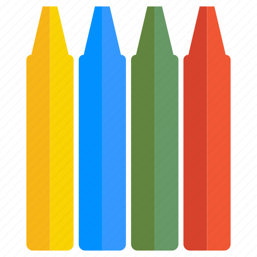 color, crayons, pencils, stationery, write icon