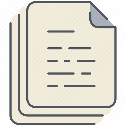 articles, documents, files, office, papers, sheets, text icon