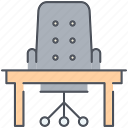 desk, furniture, office, space, table, work, working icon