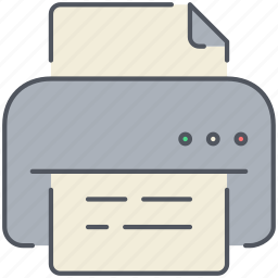 file, paper, print, printer, printing, scan, text icon