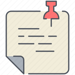 notes, office, reminder, sticker, stickie, task, todo icon