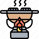 gas, cooking, flame, heat, camping