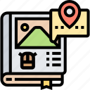 guide, book, destination, travel, information