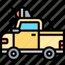 truck, pickup, car, vehicle, transportation