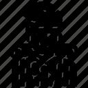 avatar, backpacker, female, traveller, trekking icon
