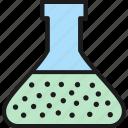 bacteria, flask, laboratory, organism, test, tube, virus icon