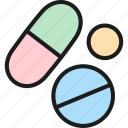 bacteria, drug, health, medical, pill, tablet, virus icon