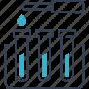 bacteria, experiment, flask, fluids, virus icon
