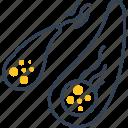 bacteria, medicine, virus icon