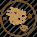 bacteria, germ, microorganism, pathogen, shape, sponge, virus icon
